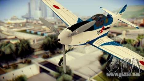 P-39N Airacobra JASDF Blue Impulse para GTA San Andreas vista hacia atrás