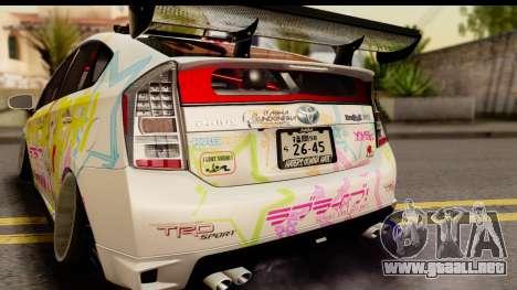 Toyota Prius Hybrid Eri Ayase Love Live Itasha para la visión correcta GTA San Andreas