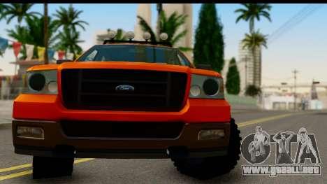 Ford F-150 4x4 para GTA San Andreas vista posterior izquierda