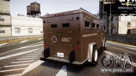 GTA V Brute Police Riot [ELS] skin 1 para GTA 4 Vista posterior izquierda