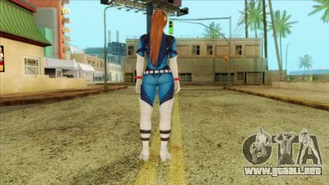 Dead Or Alive 5 LR Kasumi Fighter Force para GTA San Andreas segunda pantalla