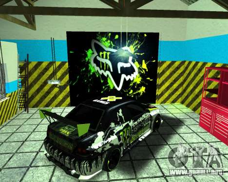 Mitsubishi Lancer Evolution IX Monster Energy DC para GTA San Andreas vista posterior izquierda