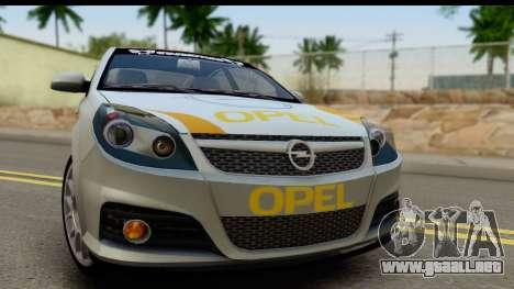 Opel Vectra para GTA San Andreas vista posterior izquierda