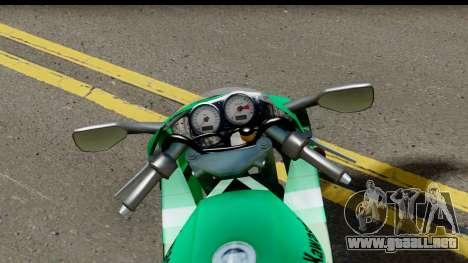 Kawasaki ZX-9R para GTA San Andreas vista hacia atrás