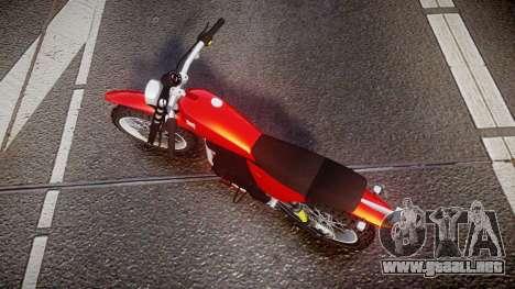 GTA V Dinka Enduro para GTA 4 visión correcta