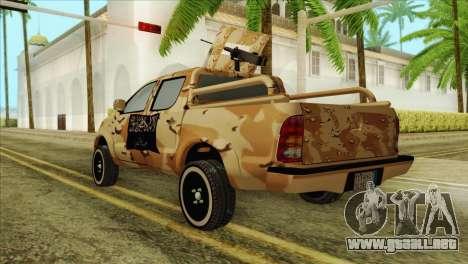 Toyota Hilux Siria Rebels para GTA San Andreas left