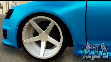 Audi RS6 Vossen para GTA San Andreas vista hacia atrás