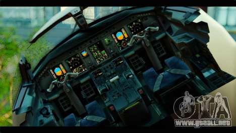 Embraer 190 Lion Air para GTA San Andreas vista hacia atrás