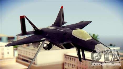F-22 Raptor Razgriz para GTA San Andreas vista hacia atrás