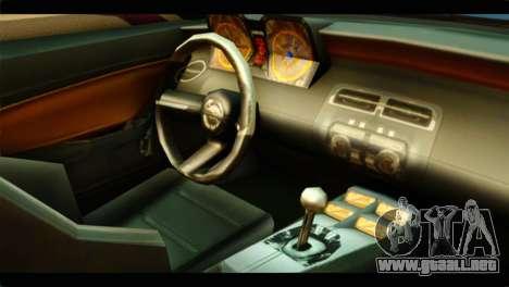 Chevrolet Camaro Indonesia Police para la visión correcta GTA San Andreas