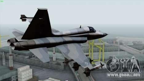 Northrop F-5E Tiger II Wardog Squadron para GTA San Andreas left