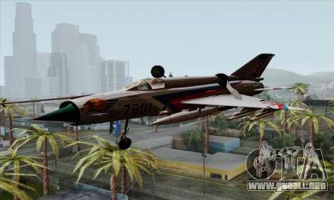 MIG-21MF Slovak Air Force SLP para GTA San Andreas