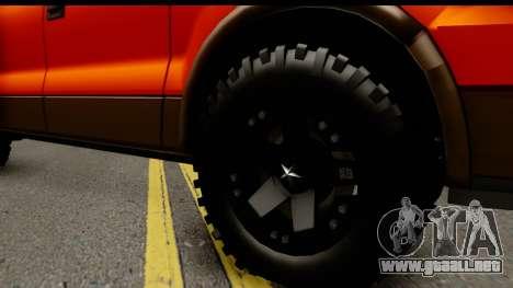 Ford F-150 4x4 para GTA San Andreas vista hacia atrás