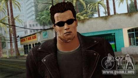 T-800 Skin para GTA San Andreas tercera pantalla