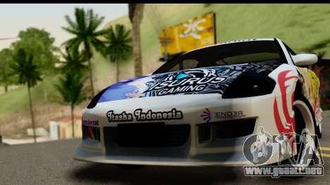 Mitsubishi Eclipse 2003 Fate Zero Itasha para GTA San Andreas vista posterior izquierda