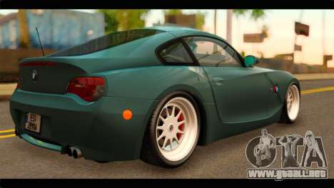 BMW Z4M Coupe para GTA San Andreas left