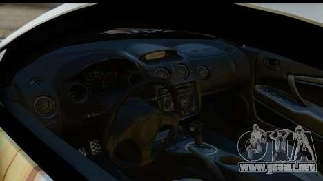 Mitsubishi Eclipse 2003 Fate Zero Itasha para GTA San Andreas vista hacia atrás
