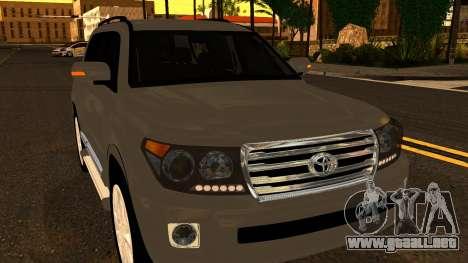 Toyota Land Cruiser 200 2013 para vista lateral GTA San Andreas