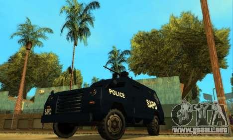 Beta FBI Truck para GTA San Andreas vista hacia atrás