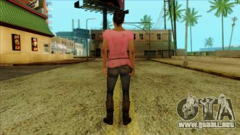 Rochelle from Left 4 Dead 2 para GTA San Andreas segunda pantalla