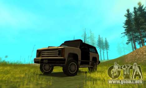 Beta Police Ranger para vista lateral GTA San Andreas