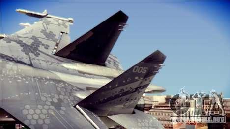 SU-37 Hexagon Madness para GTA San Andreas vista posterior izquierda