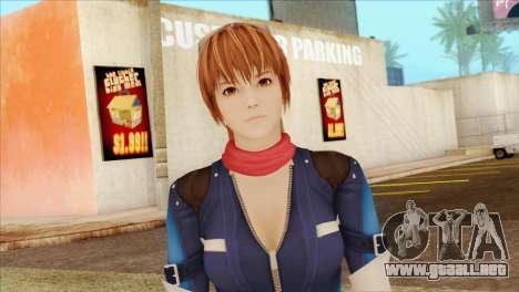 Dead Or Alive 5 LR Kasumi Fighter Force para GTA San Andreas tercera pantalla
