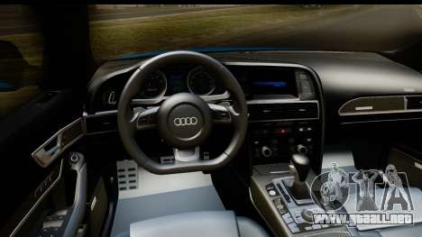 Audi RS6 Vossen para visión interna GTA San Andreas