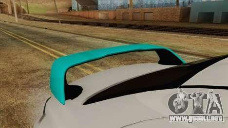 Mitsubishi Lancer Miku Hatsu para GTA San Andreas vista hacia atrás