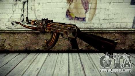 AK-47 Inferno para GTA San Andreas segunda pantalla