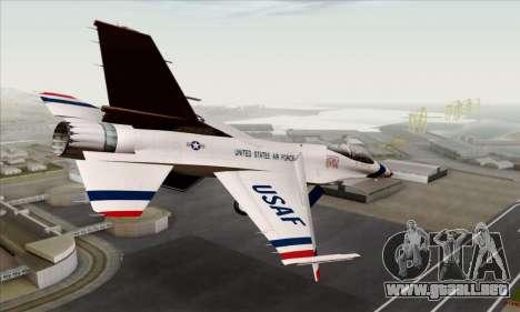 F-16C USAF Thunderbirds para GTA San Andreas left