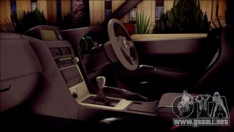 Nissan Skyline GTR V Spec II para la visión correcta GTA San Andreas