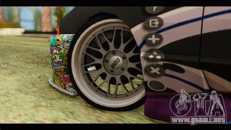 Elegy Sinon PJ para GTA San Andreas vista posterior izquierda