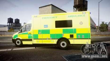 Mercedes-Benz Sprinter Ambulance [ELS] para GTA 4 left