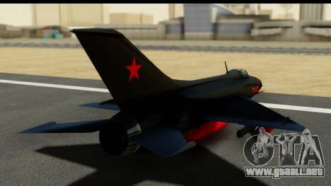 MIG-21F Fishbed B URSS Custom para GTA San Andreas left