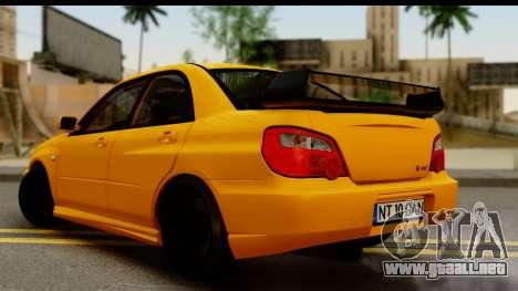 Subaru Impreza WRX STI 2005 Romanian Edition para GTA San Andreas left