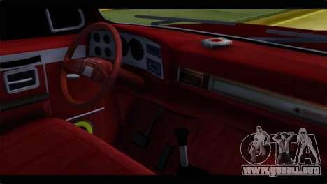 Chevrolet C10 Low para GTA San Andreas vista posterior izquierda
