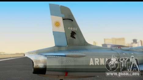 Aermacchi MB-326 ARM para la visión correcta GTA San Andreas