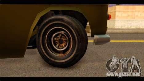 Chevrolet 56 para GTA San Andreas vista posterior izquierda