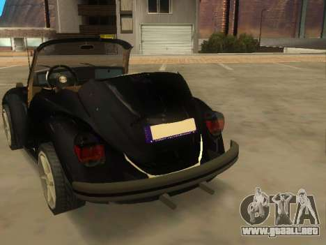 Volkswagen Beetle 1984 para GTA San Andreas vista posterior izquierda