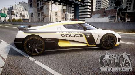 Koenigsegg Agera 2013 Police [EPM] v1.1 PJ1 para GTA 4 left