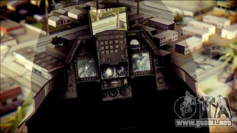 P-996 Lazer para GTA San Andreas vista hacia atrás