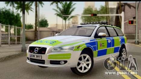 Volvo V70 Kent Police para GTA San Andreas