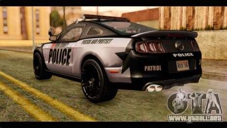 NFS Rivals Ford Shelby GT500 Police para GTA San Andreas left