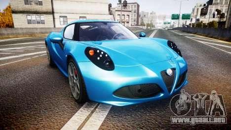 Alfa Romeo 4C 2014 HD Textures para GTA 4