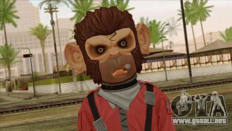 Monkey from GTA 5 v3 para GTA San Andreas tercera pantalla