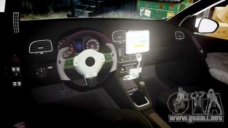 Volkswagen Golf Mk6 Dutch Police [ELS] para GTA 4 vista interior
