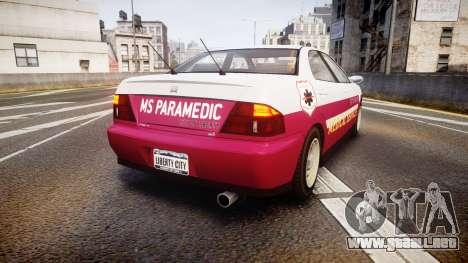 Dinka Chavos Paramedic para GTA 4 Vista posterior izquierda