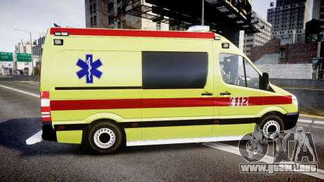 Mercedes-Benz Sprinter 311 cdi Belgian Ambulance para GTA 4 left