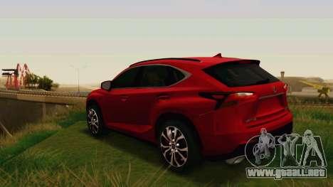 Lexus NX200T v2 para la visión correcta GTA San Andreas